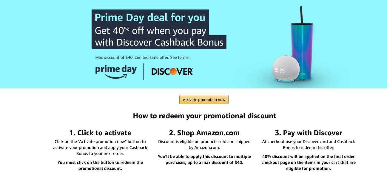 Discover Amazon Promo